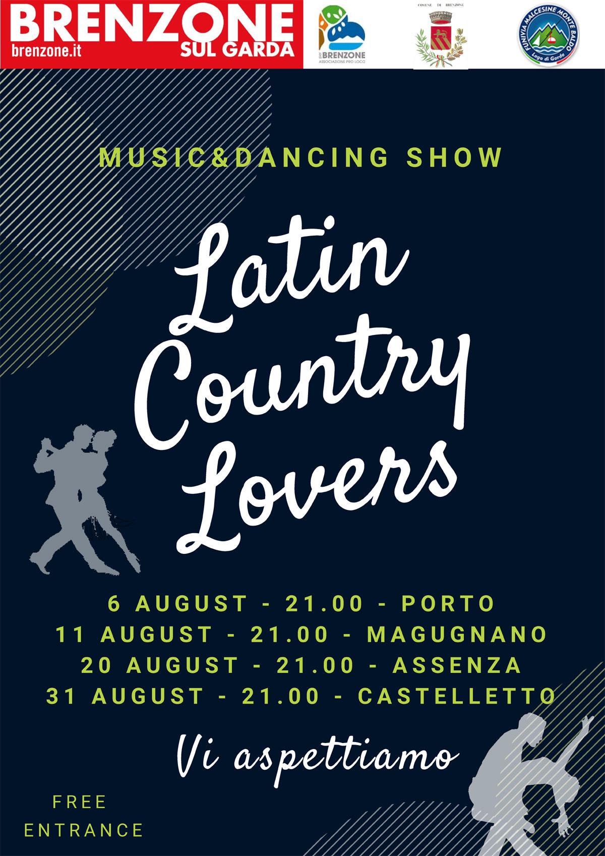 Latin Country Lovers - Music & Dancing Show: 6, 11, 20 e 31 agosto